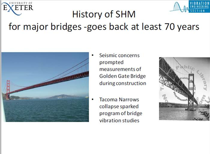 What would the logical steps be to mathematically describe the structural failure of a bridge?